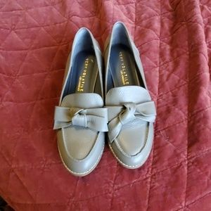 Very Volatile LA Gray Leather Loafers Size 9